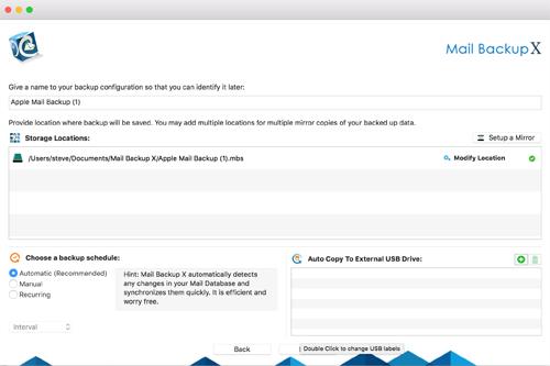how do i backup mac mail to an external hard drive