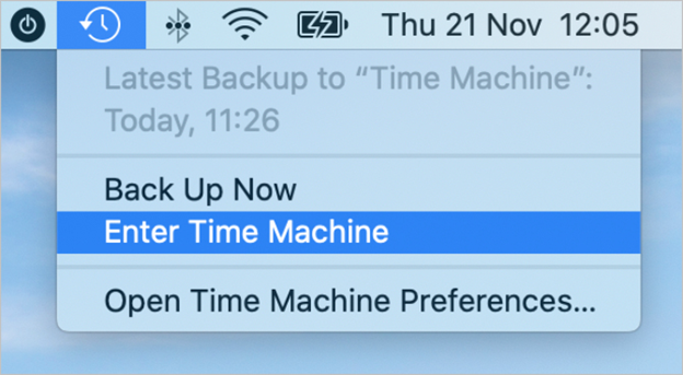 How do I restore outlook 2011  from Time Machine?