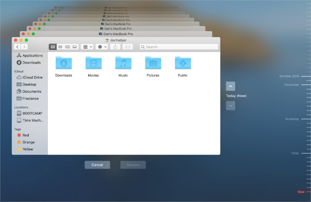 How do I restore mac outlook 2011  from Time Machine?