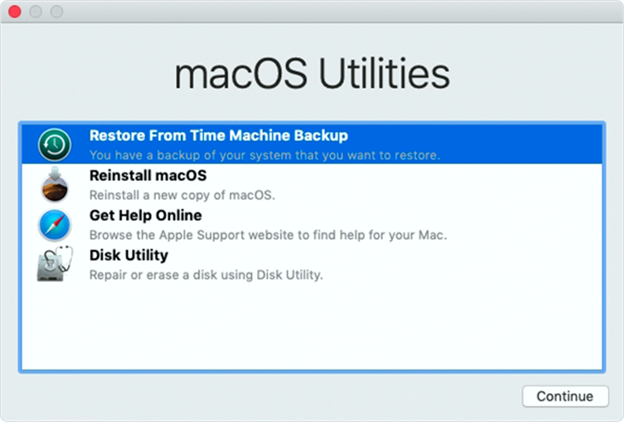 how to restore outlook 2011 from time machine