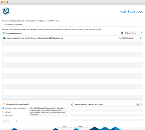 backup outlook 2013 automatically