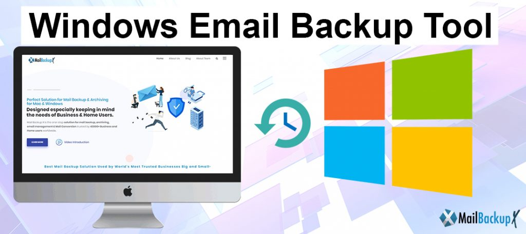 backup windows emails