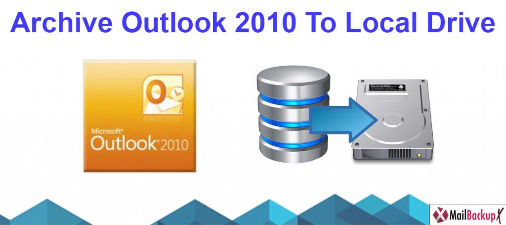 archive outlook 2010 to local drive
