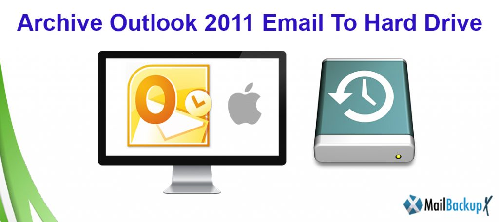 archive outlook 2011 to local drive