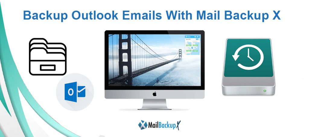 backup outlook 2017 email to hardrive