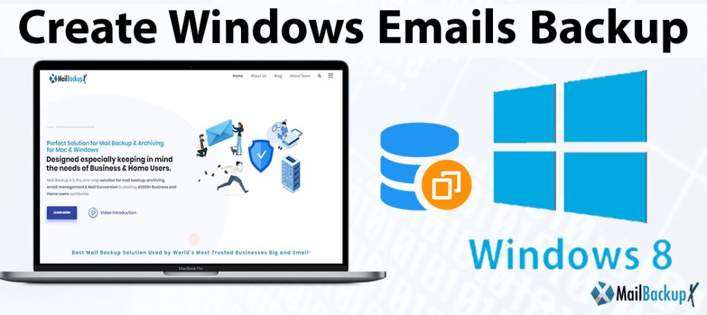 make windows emails backup