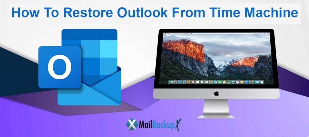 How do I restore outlook from Time Machine?