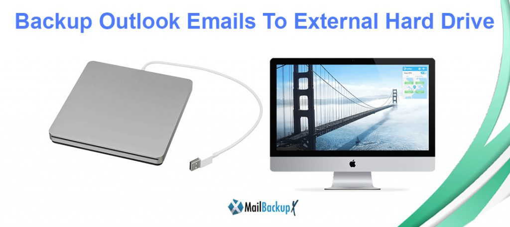 backup outlook to external hard drive