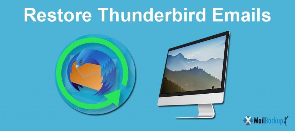 restore thunderbird emails