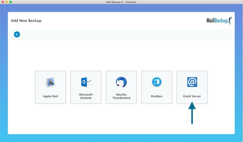 Choose EMail Server option