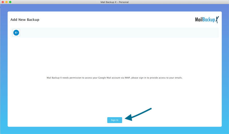 Click Continue to authenticate using Web Browser